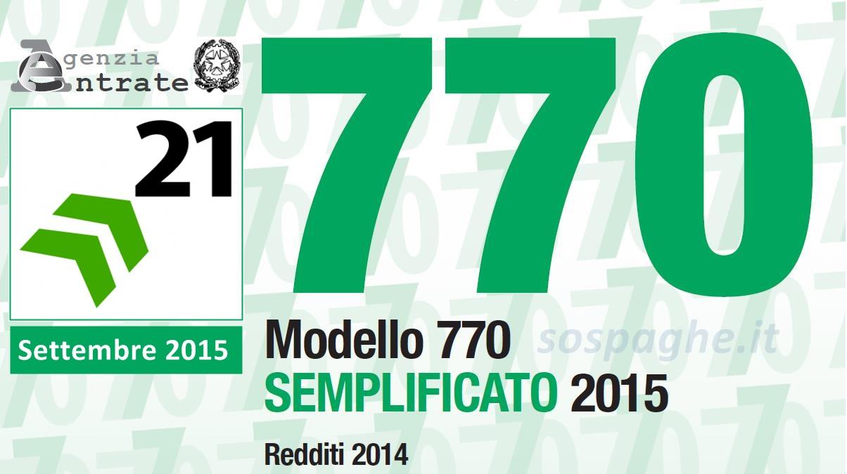 770 2015 e cu in scadenza il 21 settembre sos paghe for Scadenza modello 770